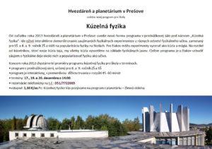 Pozvánka Kúzelná fyzika